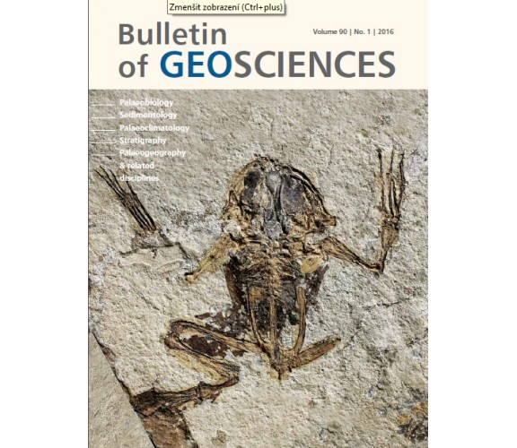 Bulletin of Geosciences 2016/1