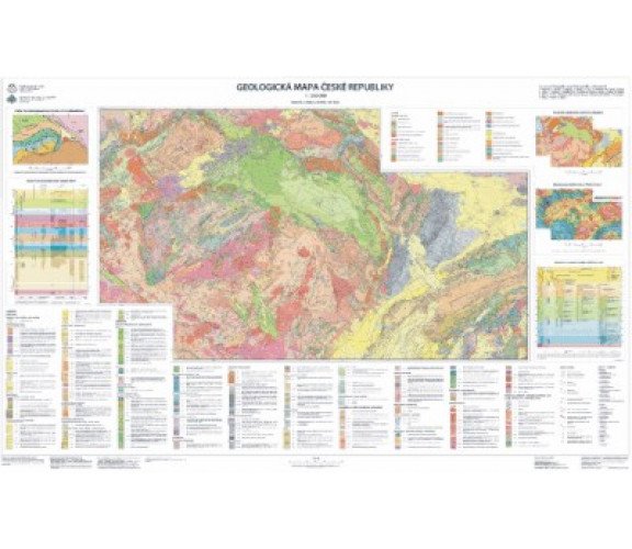 Geological Map of the Czech Republic 1 : 500 000, flat